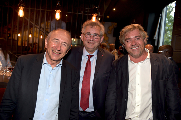 13. Gérard Collomb, sénateur maire de Lyon, Alain Audouard, président de la Chambre de Métiers et Jean-Christophe Larose, président du Groupe Cardinal