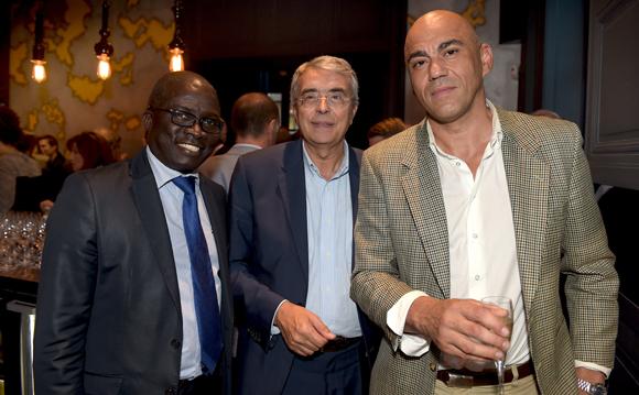 15. Laye Diop (Marriott Hôtel), Jean-Jack Queyranne, président du Conseil Régional et Pierre Fronton, adjoint au maire du 3ème