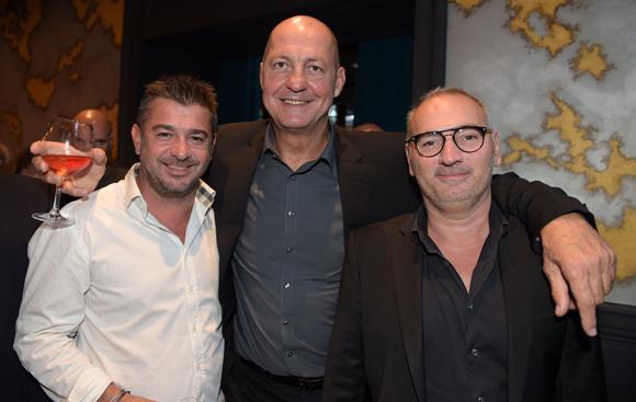 16. Sylvain Larose (Selcius), Alain Lorieux (Champagne Taittinger) et Sylvain Auclair (La Maison)