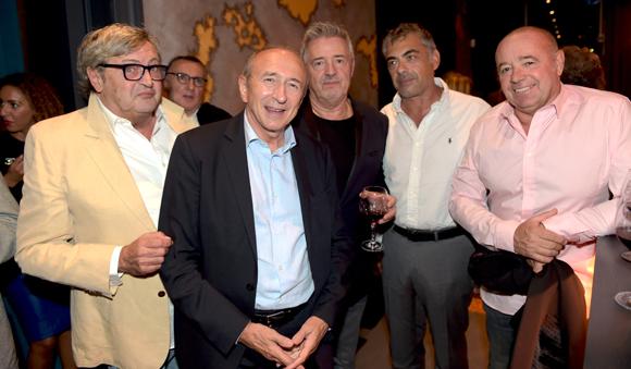 27. Le docteur André Safar, Gérard Collomb, sénateur maire de Lyon, Gérard Vanier, le docteur Gilles Bessiène et Laurent Meynial (ESF Courchevel)