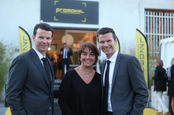 2. Nathalie Berberian (Innovacti) entourée de Régis et Grégory Fouque (Promoval)