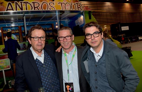 28. Philippe Vorbuger (Comédie Odéon), Christophe Chapelle (Andros) et le réalisateur Vincent Massip