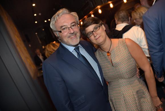 32. Erick Roux de Bézieux (Syntagme), son épouse Elodie, conseillère municipale