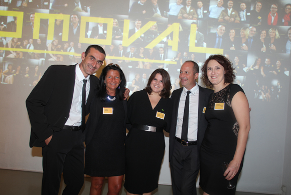 36. Didier Lepore (Art Pierre services), Clotilde Defaux (Promoval), Roberta Ambrosio (Promoval), Jean-Pascal Perron (Studilodge) et Catherine Reveyrand (Promoval)