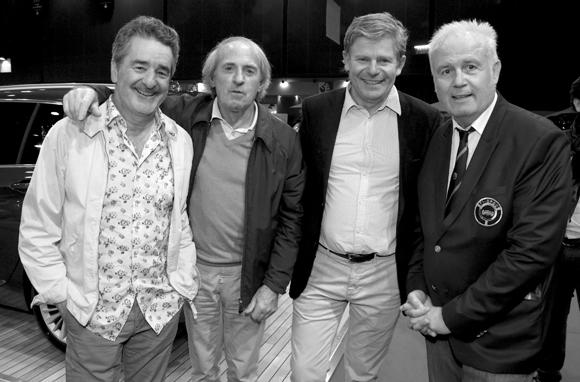 41. Bruno Saby, Jacques Laffite, Jérôme Rivière et Patrick Tambay
