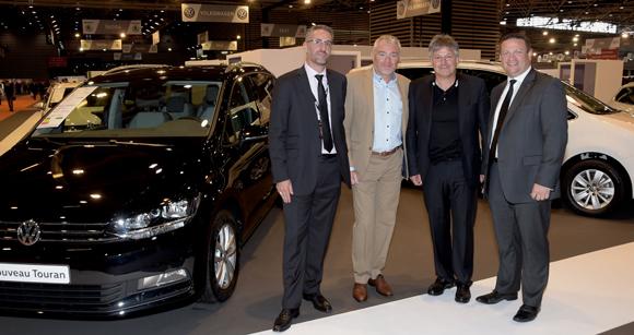 5. Xavier Mourlon (Volkswagen), Jean-Louis Joly, DG du Medef Lyon-Rhône, Olivier Delorme, président de Delorme Automobiles et Henri Combarnous, directeur des ventes France Volkswagen
