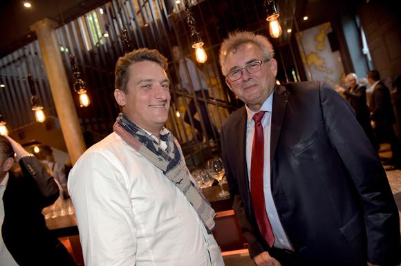 6. Nicolas  Valentin (Clinique du Parc) et Alain Audouard, président de la Chambre de Métiers