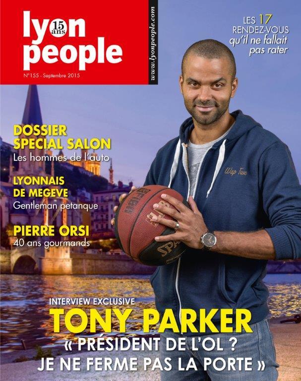 Tony Parker en couverture de Lyon People