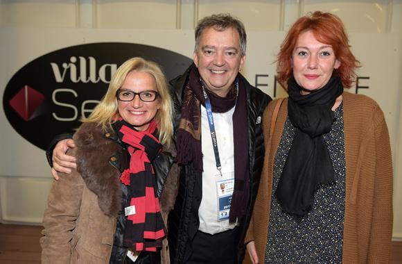 16. Valérie Fetaud (LOU Rugby), Guy Mathiolon, président Serfim et Laurence Masson (Eurexpo)