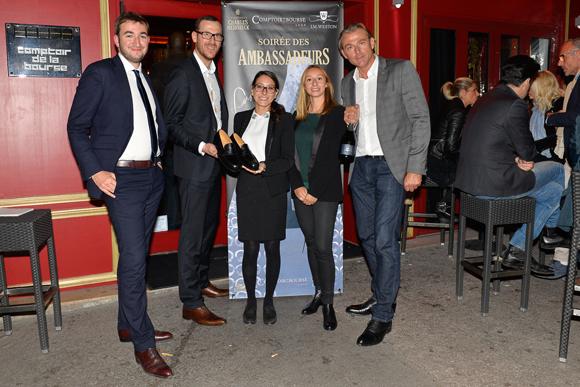 2. Clément Mercier (Weston), Olivier Gaugey (Comptoir de la Bourse), Angèle Schwob et Alison Chapuis (Weston), Arnaud (Charles Heidsieck)