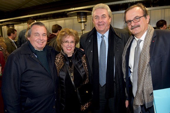 28. Olivier Ginon (GL Events), Evelyne Haguenauer, Maître Richard Brumm, adjoint aux Finances et Jean-François Carenco, préfet de Paris
