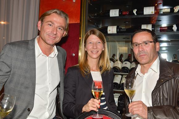 3. Arnaud et Bruno (Champagne Charles Heidsieck), Nathalie Coquard (Giraudet)
