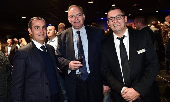 32. Xavier Gauduel, Bernard Perrut, député-maire de Villefranche et Richard Castronovo