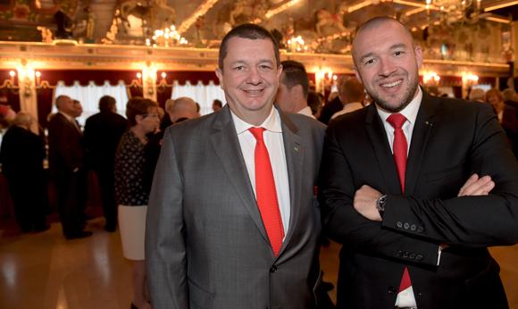39. Christophe Marguin, président des Toques Blanches Lyonnaises et Guillaume Gomez, chef de L'Elysée
