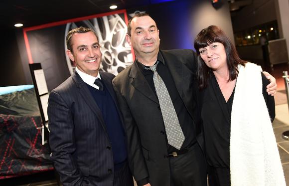 4. Xavier Gauduel, Eric Lacourt (ACBB) et son épouse Loetitia