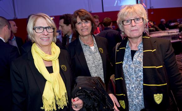 7. Geneviève Arnes, Arlette Gabas et Jojo Laguzou (US Carcassonne)