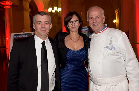 10. Le chef Laurent Bouvier, Françoise Sibilia (Chez Moss) et Jean-Paul Pignol