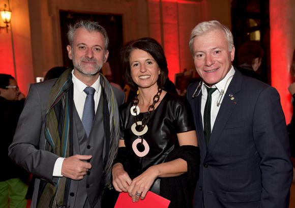 23. Le chef Mathieu Viannay (Mère Brazier), Florence Piante (Muter loger) et le chef Christian Têtedoie