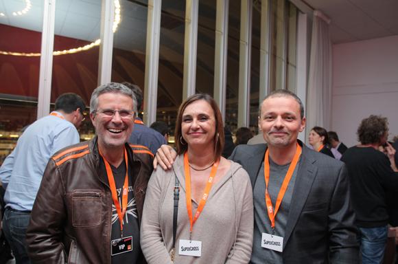 25. Jean-Claude Garambois (SFR), son épouse Sandrine (DCB International) et  Marc Stéphane Beau (Sagittaire Architecte Associés)