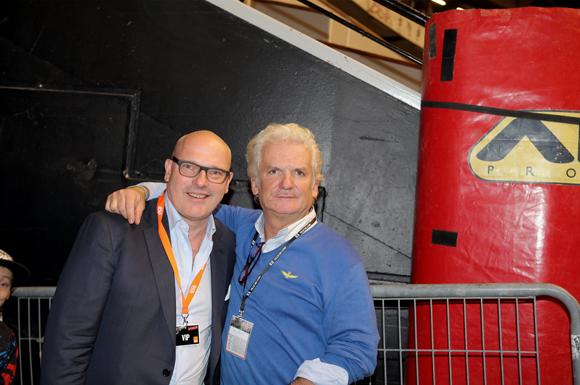 26. Didier Caudard-Breille, président de DCB International et Jack Monchanin, organisateur du Super Cross de Lyon