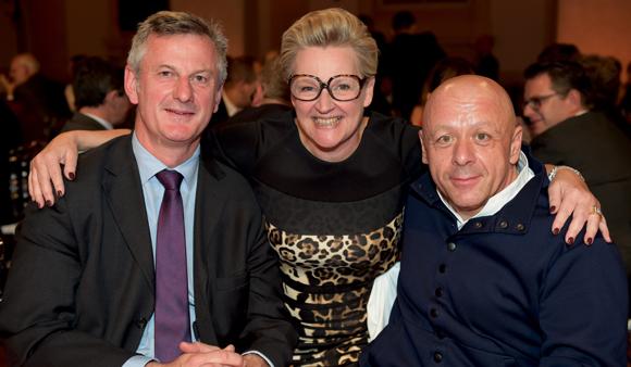 70. Pierre Fanneau, DG du groupe Progrès, Nicole Marguin et Thierry Marx
