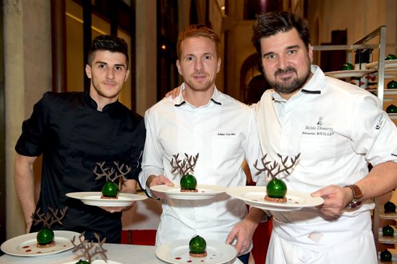 78. Les chefs pâtissiers, Guillaume Chaix, Julien Goulet et Sébastien Bouillet