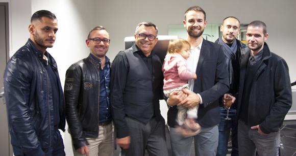 8. Baptiste Veille, Pierrick Vacher, Frédéric Fass (Toutcrea), Emilien Jeannot (Entresport), Vincent Sivaly (Celio Champagne) et le sophrologue Alexandre Cure