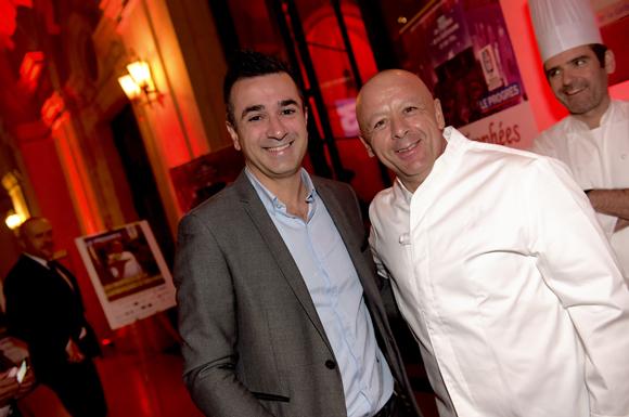9. Marc Boissieux (L'Inattendu) et  le chef Thierry Marx, parrain 2015