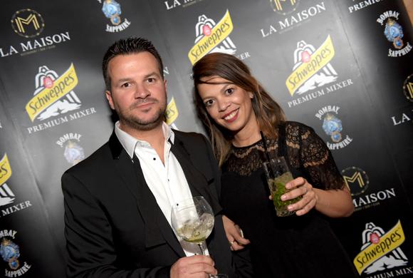11. Damien Huillard (Orangina Schweppes) et Christine Monaco, ambassadrice Schweppes Premium Mixer