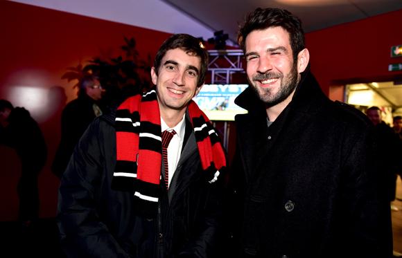 11. Yann Roubert, président du LOU Rugby et Régis Lespinas (US Oyonnax)