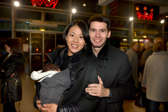 12. Jacques Rouget (Paul Bocuse) son épouse Naoko et leur fille Marie-Kohalu
