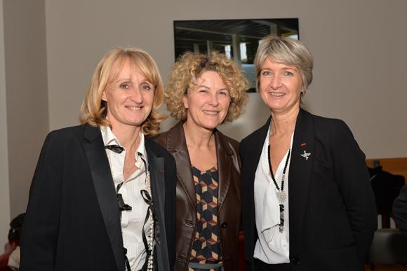 1. Marie Laure Reynaud (présidente FCE Lyon), Catherine Descours (château Sans-Souci) et Anne Sophie Panseri (Maviflex)