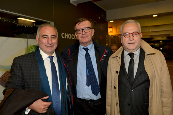 16. Georges Képénékian, premier adjoint au maire, François Corteel (Cluster Lumière) et Jean-Yves Secheresse, adjoint à la sécurité