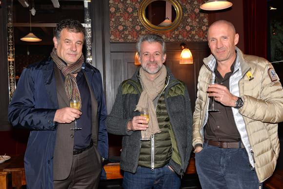 2. Gilles Demange (Orosa / Toques Blanches Lyonnaises), le chef Mathieu Viannay (La Mère Brazier) et Paul Antoine Merle (Treca)