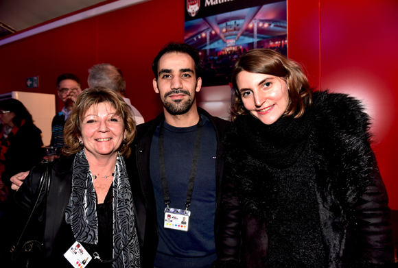 21. Chantal Bouvier, Abdelhak Aïtelmouden et Michèle Stantchev (LOU Rugby)