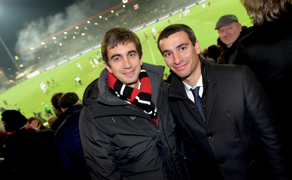 24. Yann Roubert, président du LOU Rugby et Yann Cucherat, adjoint aux sports