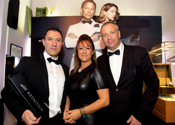 4. Laurent Ferreira (ZooBar Restaurant), Marc Chaize et son épouse Muriel Chaize Argaud (Champagne Bollinger)