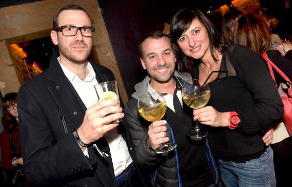 48. Olivier Gaugey (Comptoir de la Bourse), Maxime Lavorel (L'Horloge) et Séverine Eberhardt