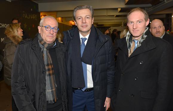 8. Jean-François Mesplede (Guide Lyon Restaurant), Pascal Blache, maire du 6ème et Romain Boucaud-Maitre (Chocolat Voisin)
