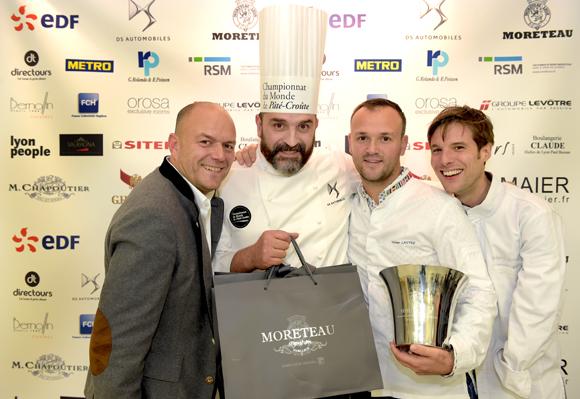 96. Sébastien Le Guillou (Moreteau), Michel Animat, Yohan Lastre, champion du Monde 2012 et Grégory Cuilleron