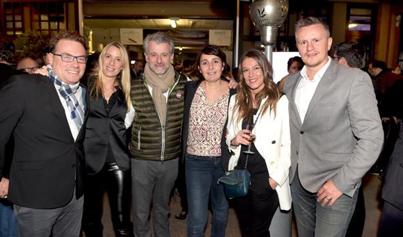 98. Pierre-Yves Gas (Agence Proxi'com), Aline  Germain (DS Automobile), Mathieu Viannay, Christelle Cimetière (EMC), Karine Turcas et Franck Chapon, directeur des UGC Lyon