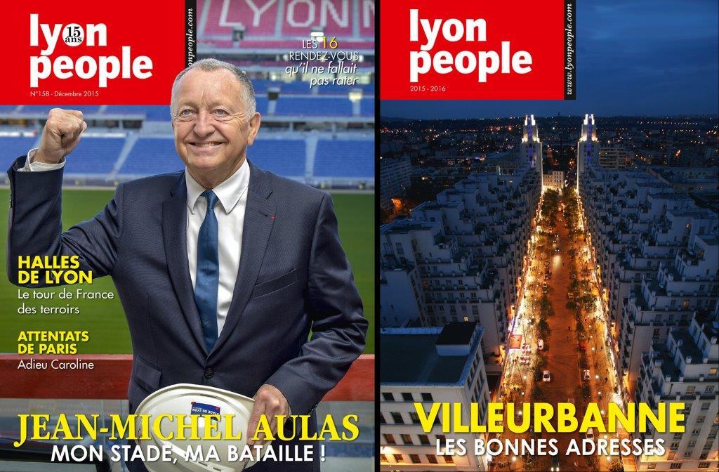 Lyon People Décembre 2015. Jean-Michel Aulas à la Une