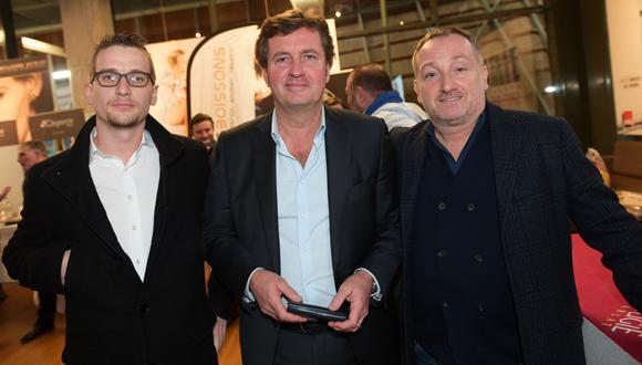 10. Rémy Verna (Cabinet Anabases), Hervé Bal (Editions HB), éditeur de l'Annuaire des Toques Blanches Lyonnaises et Stéphane Fernandez (Steff)