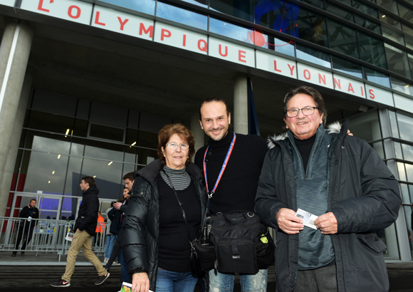 1. Stéphane Guiochon (Le Progrès), ses parents Betty et Pierre