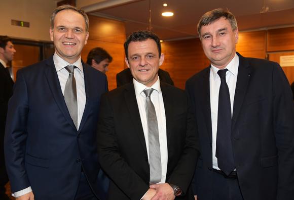 13. François-Noël Buffet, sénateur-maire d'Oullins, Laurent Fiard, président du Medef Lyon-Rhône et Christophe Guilloteau, président du Département du Rhône