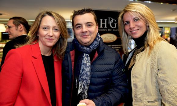 13. Isabelle Darnault, Christophe Foulquier (C. Gastronomie) et Mélanie (HDG Histoire de Glaces)