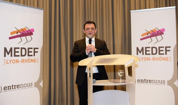 18. Laurent Fiard, président du Medef Lyon-Rhône