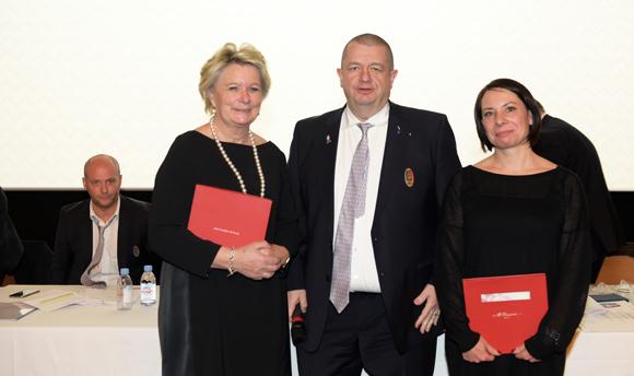 20. Doreen Quentel, Christophe Marguin, président des Toques Blanches Lyonnaises et Béatrice