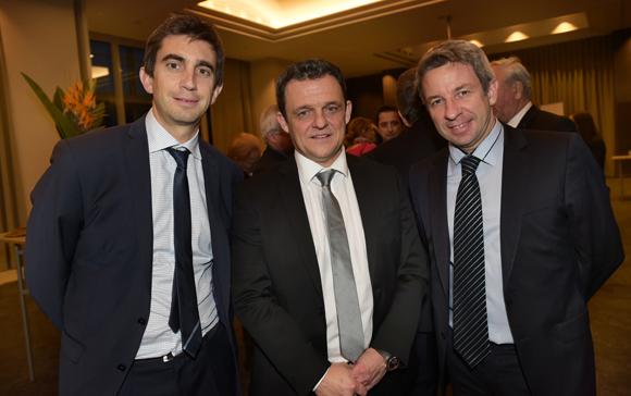 2. Yann Roubert, président du LOU Rugby, Laurent Fiard, président du Medef Lyon-Rhône et Lionel Flasseur, directeur du programme ONLYLYON