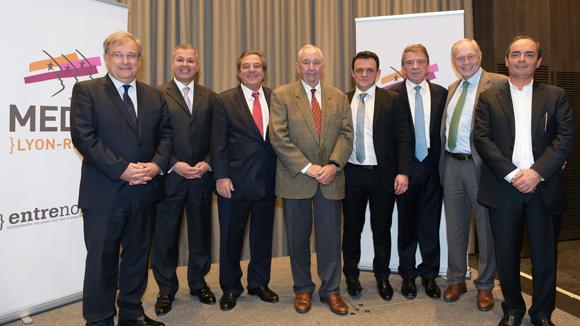 21. Photo de famille, avec le Medef, la CCI de Lyon, la CGPME et la CRCI